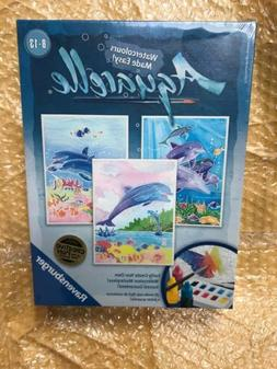 Aquarelle Ravensburger Dolphins Arts And Crafts Kit - Canvas