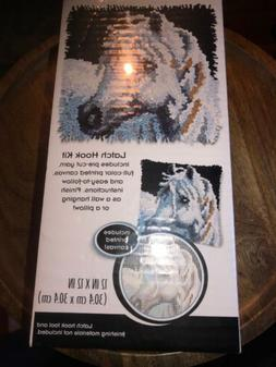 Dimensions Arts and Crafts White Horse Latch Hook Kit, 12''L