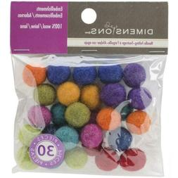 Dimensions Crafts Assorted Mini Wool Balls for Needle Feltin