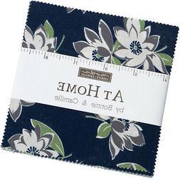 """At Home Blue Moda Charm Pack 42 100% Cotton 5"""" Precut Fabric"""