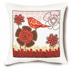 Bird on Flower Pillow Cover - Embroidery Kit # 72-73571 - Di