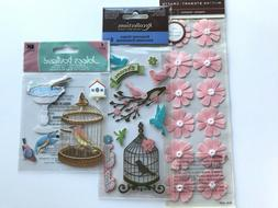 Birds Flowers Stickers Lot Jolee's Martha Stewart Recollecti