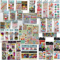 Birthday🎈Scrapbook Stickers Jolee's💗Martha Stewart🌻