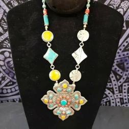 Boho, Fashion Women Pendant Chain Necklace Jewelry, Hand Cra