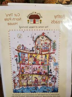 "Bothy Threads ""Cut Thru North Pole House"" Cross Stitch Kit"