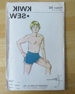 BOY SWIM TRUNK KWIK SEW KNIT Sewing Pattern CHILD AGES 4 6 8