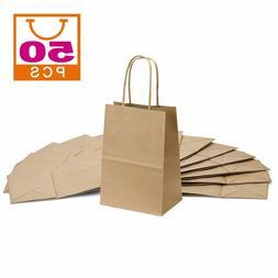 "Brown Kraft Paper Bags Small Craft Gift Bags 50pcs 5""x3.75""x"