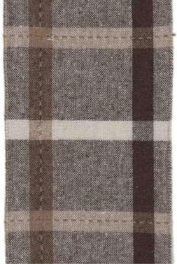 Brown Plaid Faux Wool Ribbon by D. Stevens