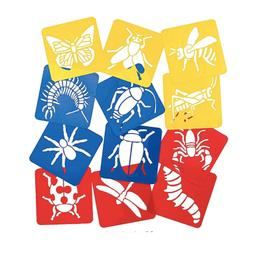 """Bug Stencils for Kids: 5 """" Plastic Colorful Insect Stencils"""