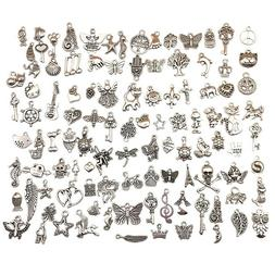 Charms for Jewelry Making, 100 Style Pendants for DIY Bracel