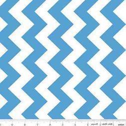 Chevron Medium Blue Medium Chevron for Riley Blake, 1/2 yd,