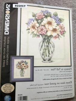 Dimensions counted cross stitch kit,  Flowers in a Tall Vase