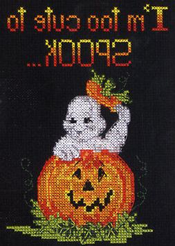 Counted Cross Stitch Kit ~ Candamar Halloween Too Cute To Sp