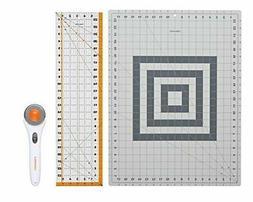 NEW Quilt Fabric Cut Tools Rotary Cutter Cutting Mat Ruler S
