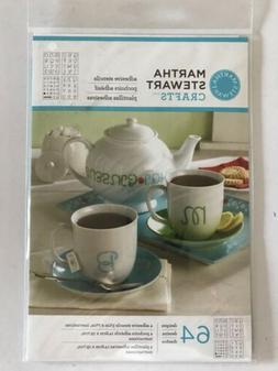 Martha Stewart Crafts~Adhesive Stencils~63 Designs~Letters,