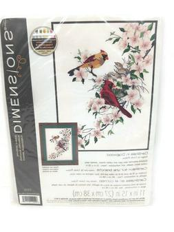 Dimensions Crafts Crewel Embroidery Cardinals in Dogwood 11