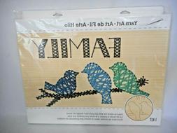 Dimensions Crafts Kit Yarn Art on Wood  Family Birds   C-2/1