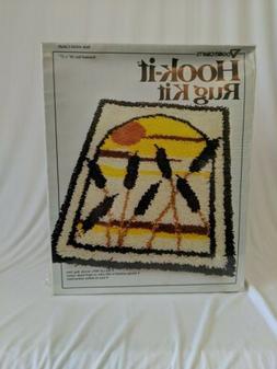 """Vogart Crafts LATCH HOOK RUG KIT Cattails 20"""" x 27"""" #4341 NE"""