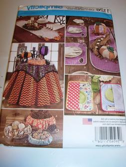 CRAFTS UNCUT SIMPLICITY 1126 Sewing Pattern TABLE CLOTH PLAC