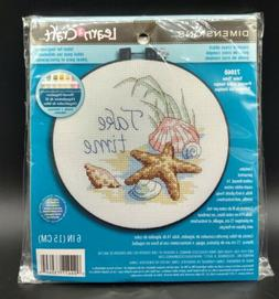 "Cross Stitch Seashells dimensions Learn-A-Craft 6"" Round Sea"