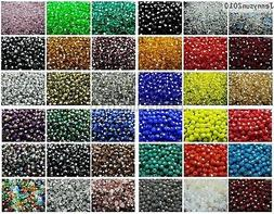 Czech Crystal 4mm Faceted Round Loose Beads For Bracelet Nec