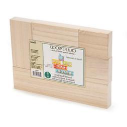 Darice Craftwood Blocks - Unfinished Wood - Assorted Sizes -