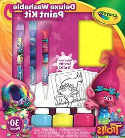 Lot of 2 Crayola Deluxe Washable Dreamworks Trolls Paint Kit