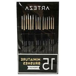 ARTEZA Detail Paint Brushes, Set of 15
