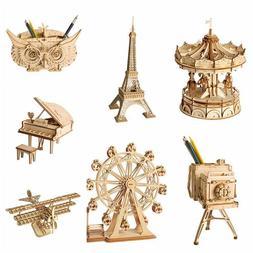 ROBOTIME DIY Wooden Crafts Set Handmade Toy Kits Assembly Ki