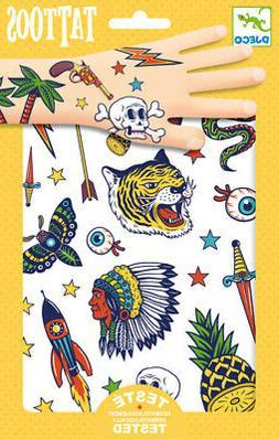 Djeco Bang Bang Tattoos   Cowboy & Indian Kids Costume 3+ Ye
