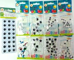 Docrafts Craft Planet Wiggle Googly Eyes Round Oval Adhesive