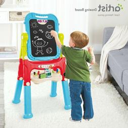 Double Sided Art Easel Magnetic Drawing Board For Toddlers A