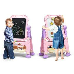 Double Sided Art Easel Magnetic Drawing Boards for Toddlers