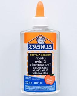 Elmers Clear Transparent School Glue 5oz Slime, Putty, Craft