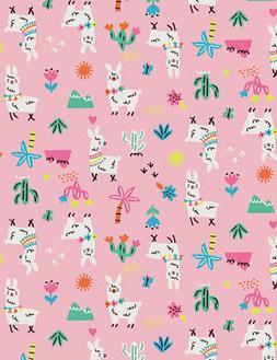 Fabric Cactus & Alpacas Whimsical Timeless Treasures Pink Co