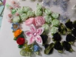 Fabric Flowers, for Sewing, Craft, Scrapbook Assorted of Siz
