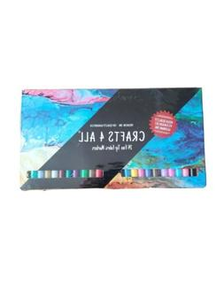 Crafts 4 All Fabric Markers Pens Permanent 24 Colors Fine Ti