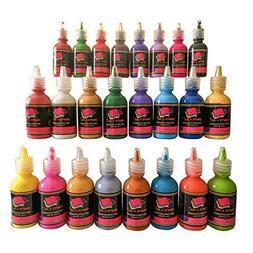 Fabric Paint 3D Permanent 24 Colors Set Marker Pens Style Pr