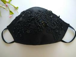 Face Mask washable Reusable  Laces 100 %Cotton Fancy With ha