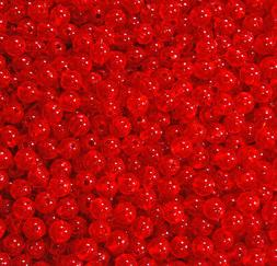 Fire Red 6mm Round Beads 500pc USA for crafts fishing lures