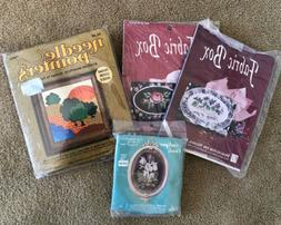 Four Craft Kits: 2 Cross Stitch, 2 Needlepoint, One Money!