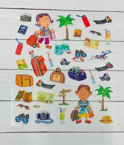 Fun  Vacation Travel Stickers Planner Papercraft Scrapbook