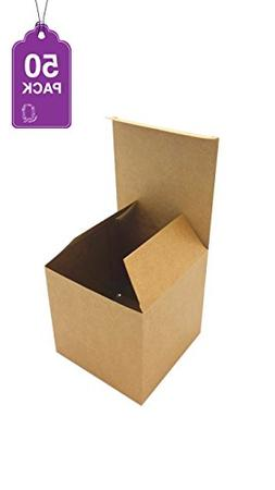 Gift Boxes Brown Kraft 50 Pack 4 x 4 x 4 Great For All Occas