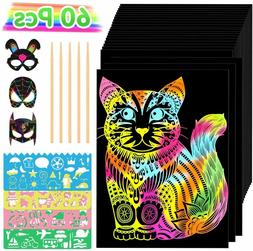 Gifts for 4-12 Year Old Girls Boys, Scratch Art for Kids Art