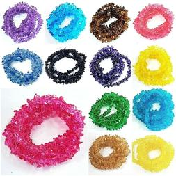 """Glass Crystal Chips Beads 36"""" strand Jewelry Making Freeform"""