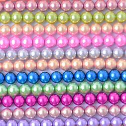 Glass Pearl Round Beads Jewelry Making Crafts 3mm 4mm 6mm 8m