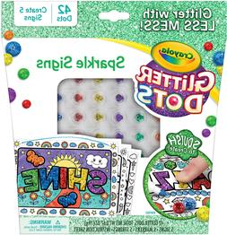 glitter dots sparkle signs craft kit at