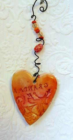 "Handmade ""Grandma"" ornament, beautiful, and perfect for moth"