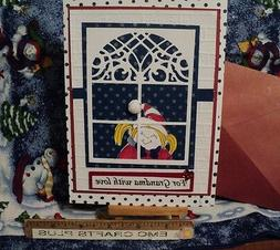 FOR GRANDMA WITH LOVE  HANDMADE GREETING ~ WINTER GIRL IN WI