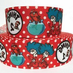 "GROSGRAIN RIBBON  7/8"" & 1.5"" Cat Hat Thing Cartoon For Gift"